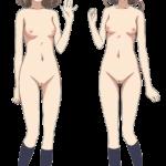 【アニメキャラ素材】アニメキャラの全裸PNG透過画像 その16