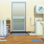 【背景素材】家の玄関・脱衣所・リビング・ダイニングの背景素材